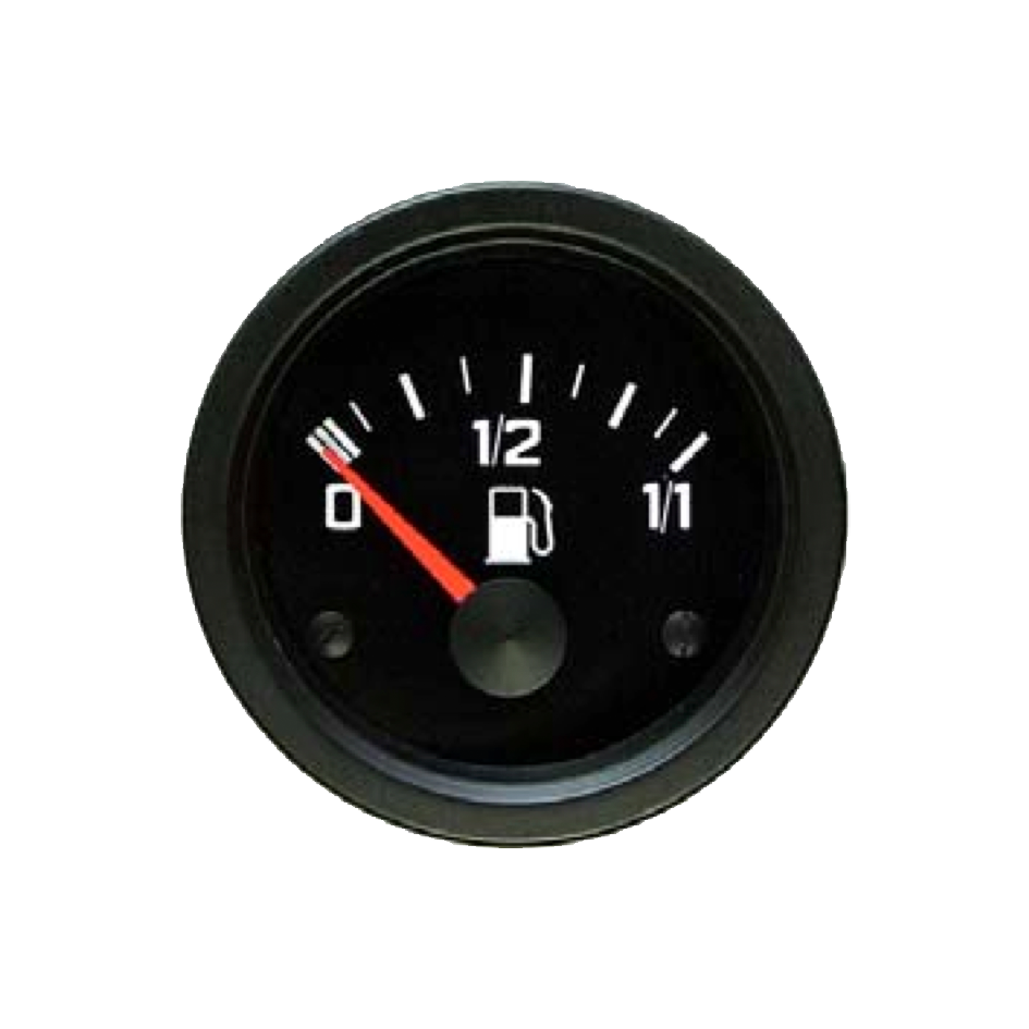 Fuel level gauge scaled for float-operated sensor Classic Line