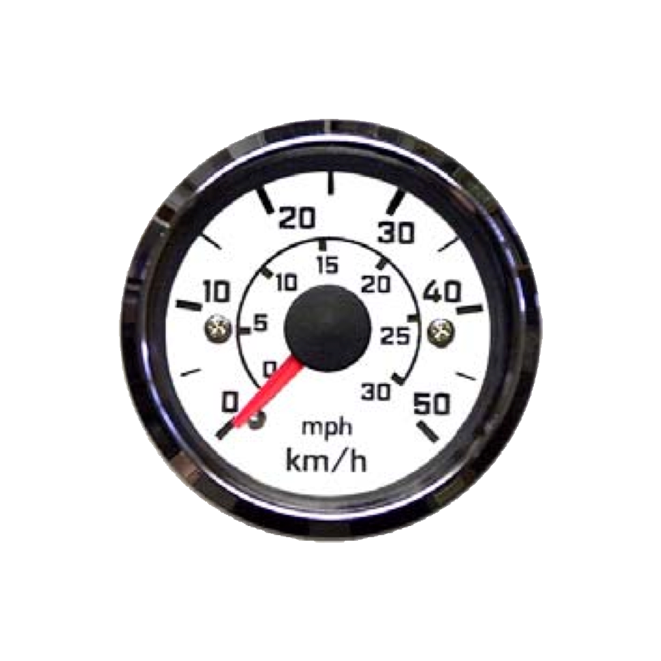 Speedometer with double scale Top Line