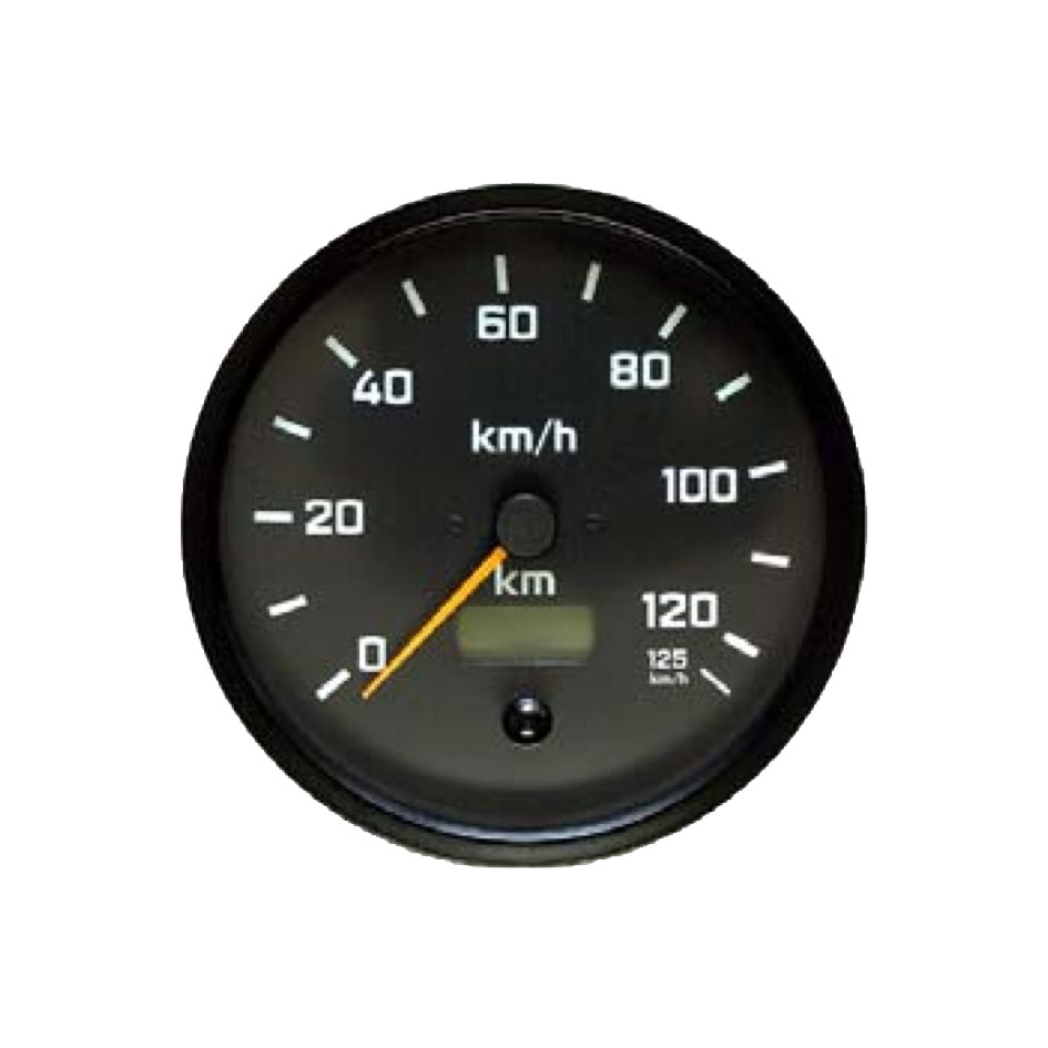 Speedometer round 140 mm 12/24 V 125km