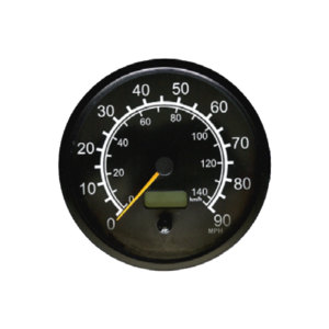 Speedometer with LCD odometer and double scale Top Line