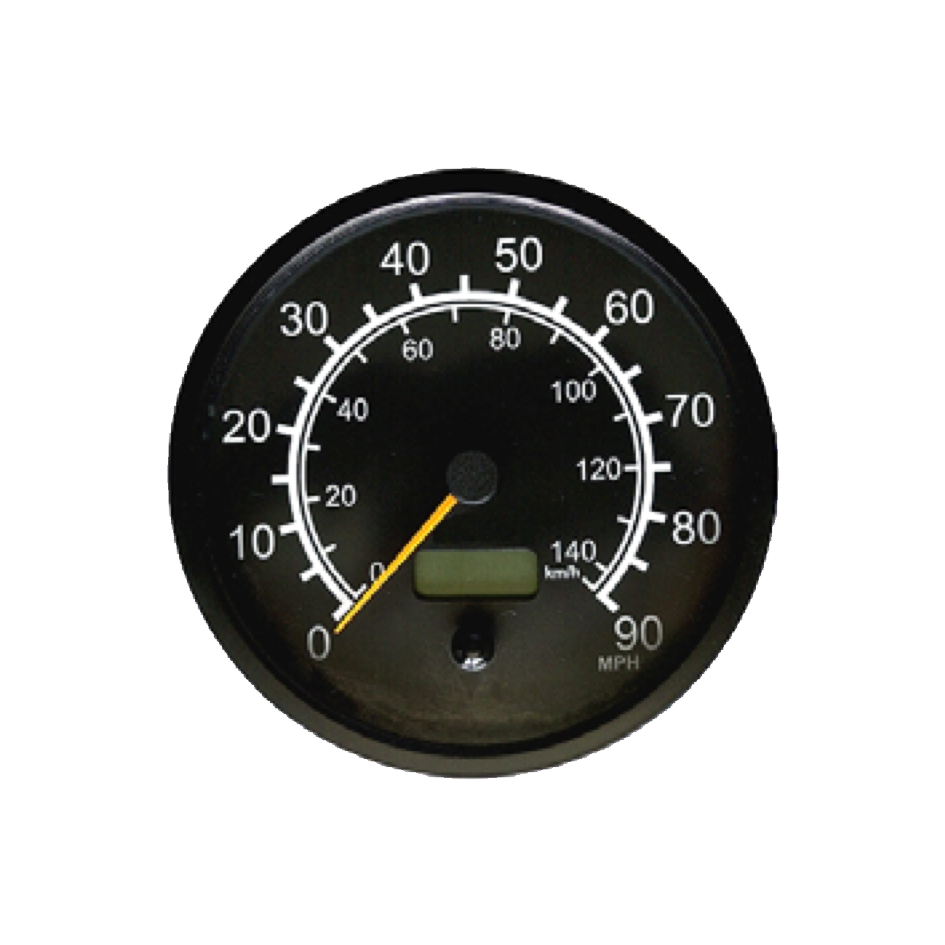 Speedometer with LCD odometer and double scale