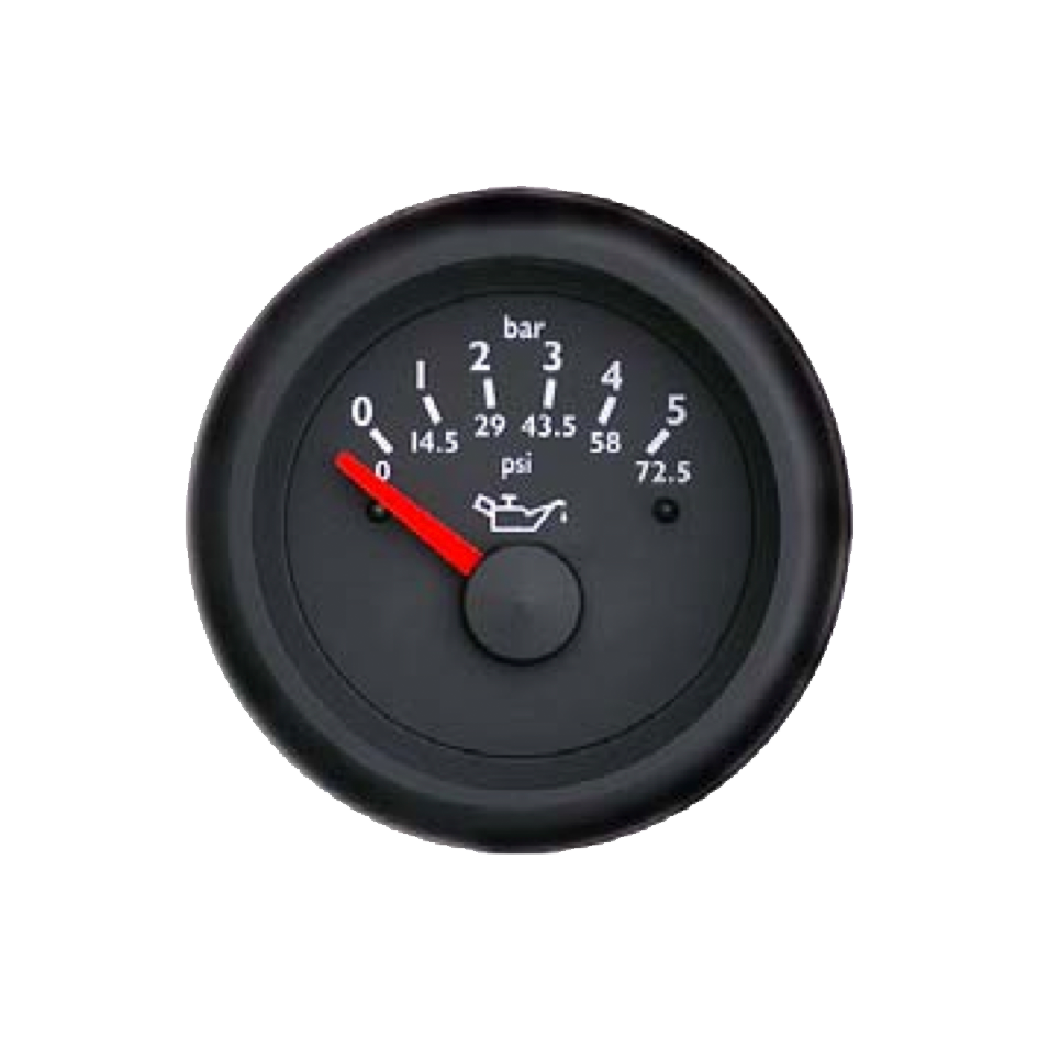 Oil pressure gauge Marine line double glass anti-fog system, plastic housing