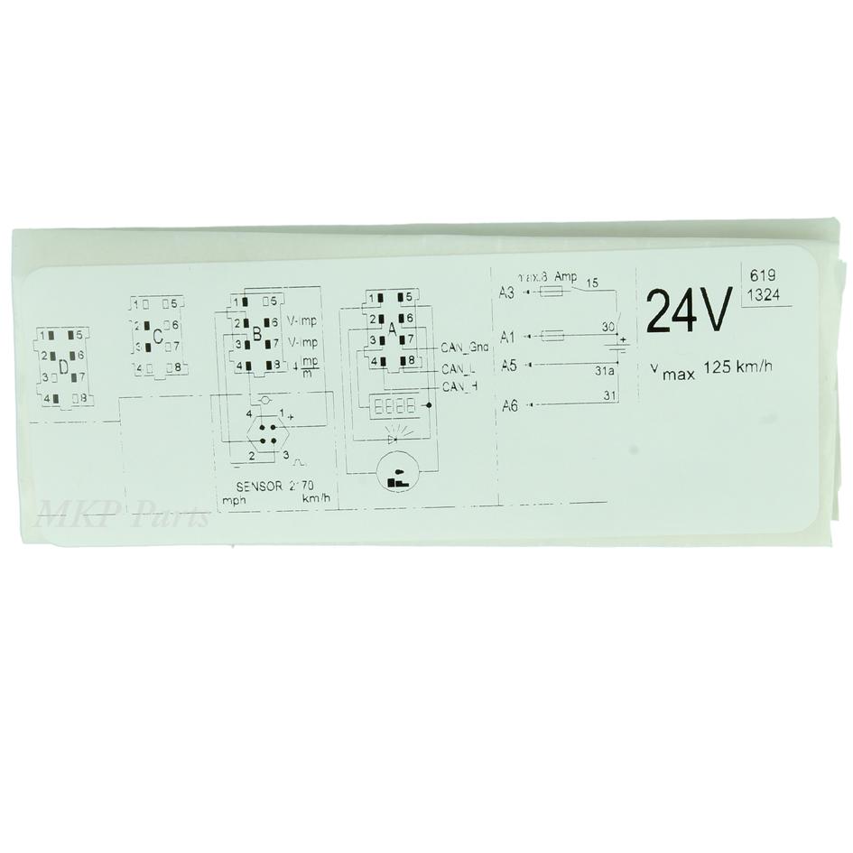 Label 24V 125 km/h Volvo