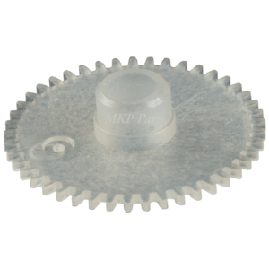 Clear plastic gear clock EGK 100