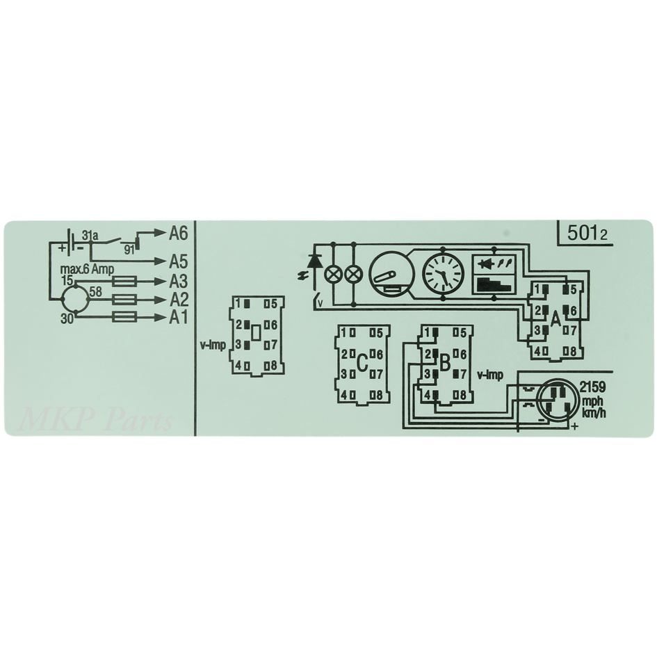 Sticker diagram 1318 nr. 501