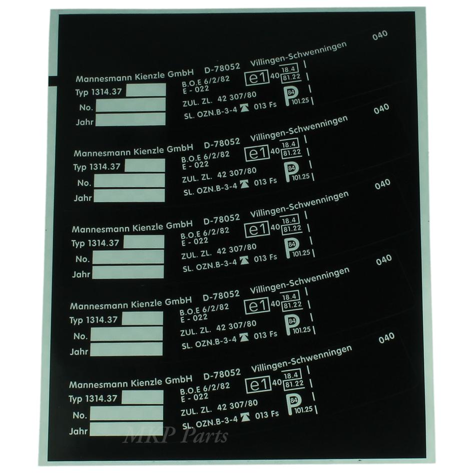 Type sticker 1314-37