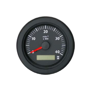 Tachometer with LCD hourmeter Marine line double glass anti-fog system, plastic housing
